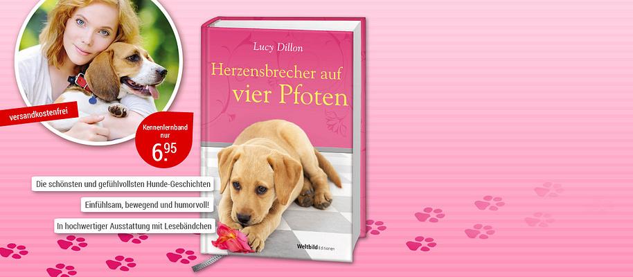"""#Freunde fürs Leben: Hier sind die schönsten Hunde-Geschichten  Kaum etwas ist bewegender als die bedingungslose Liebe und Treue eines Hundes, der uns sein Herz zu Füssen legt. Deshalb ist die **Weltbild EDITION """"Hundeliebe""""** ein MUSS für alle, die Hunde lieben. Geschichten, die Sie zu Tränen rühren oder zu einem herzlichen Lachen bringen werden!  **Starten Sie mit """"Herzensbrecher auf vier Pfoten""""** Als Rachel von ihrer Tante ein Heim für herrenlose Hunde erbt, kehrt sie London den Rücken. Und siehe da: Die charmanten Vierbeiner geben ihrem Leben eine ganz neue Richtung. Aber nicht nur Rachel, sondern auch die allein erziehende Mutter Zoe lernt an der Seite ihrer schwanzwedelnden Begleiter eine Menge über Freundschaft, Treue und bedingungslose Liebe …  {{ button href=""""/weltbild-editionen/romane-dokumentationen/hundeliebe/bestellen"""" text=""""Jetzt bestellen""""}} {{ button href=""""https://www.weltbild.de/news/downloads/Hundeliebe_Band_Herzensbrecher.pdf"""" text=""""Zur Leseprobe"""" }}"""