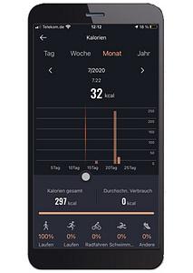 App-Aufzeichnung Kalorien-Monat