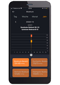 App-Aufzeichnung Blutdruck-Jahr