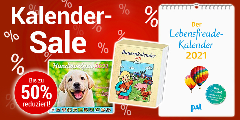 % SALE %: Kalender bis zu 50% reduziert - nur solange Vorrat reicht!