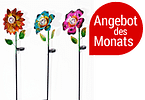 "Sparset Solar-Gartenstecker ""Flower Emotion"""
