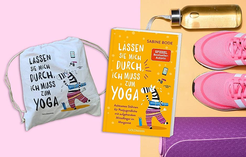 """Gewinnen Sie das neue Buch von Sabine Bode: """"Lassen Sie mich durch, ich muss zum Yoga"""" mit Yoga-Beutel"""