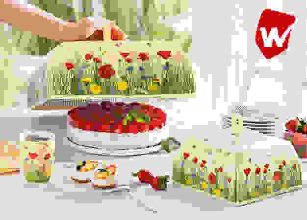 Sommerliche Kuchenhauben