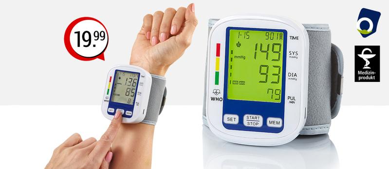 Handgelenk Blutdruckmessgerät jetzt bei Orbisana entdecken!
