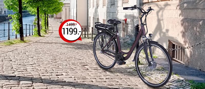 LLobe City-E-Bike Metropolitan Joy rot jetzt bei Orbisana entdecken!