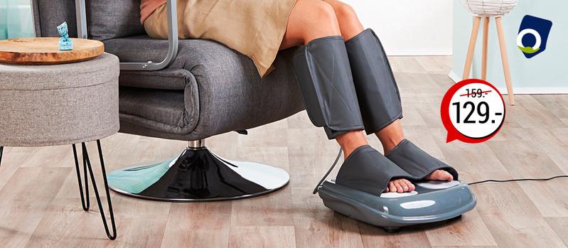 Fußmassagerät inkl. Wadenmanschetten jetzt bei Orbisana entdecken!