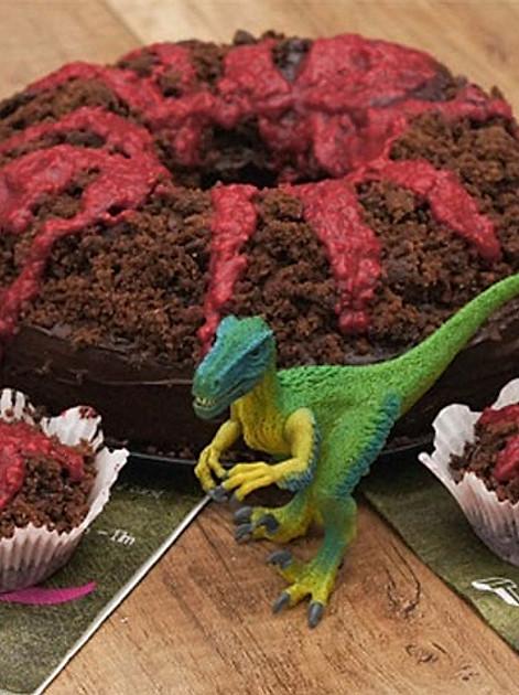 Leckerer Vulkankuchen
