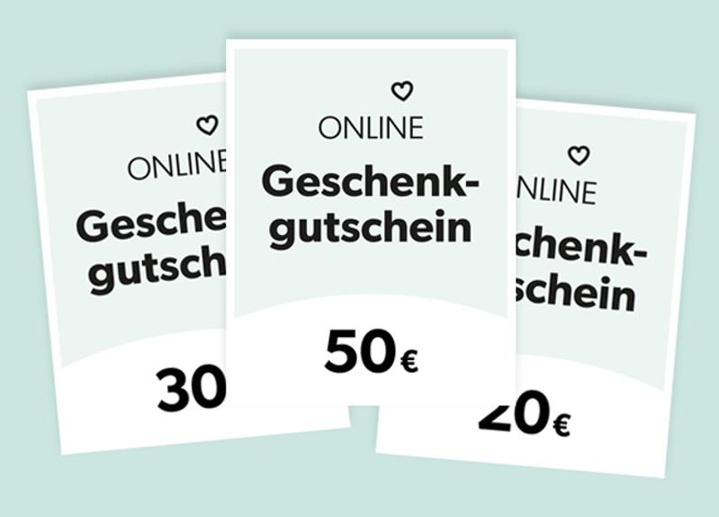 Online-Geschenkgutscheine