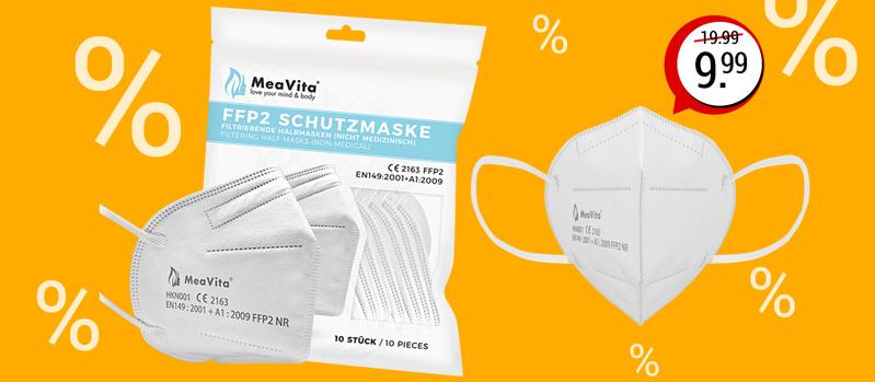 10 St. FFP2 Schutzmaske in weiß jetzt als Schnäppchen des Monats sichern!
