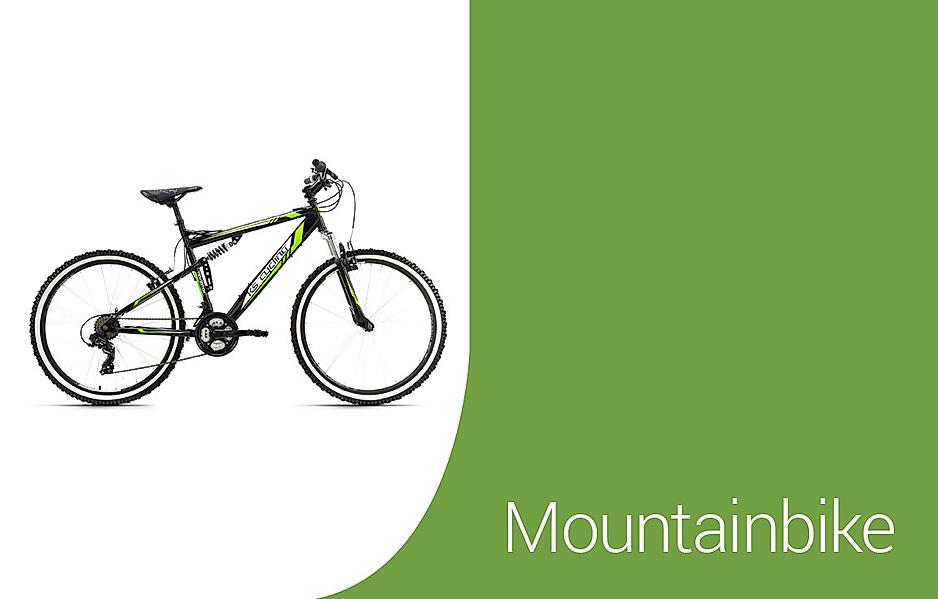 Auswahl an Mountainbikes