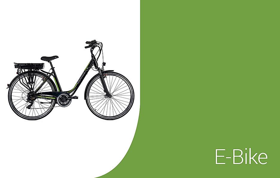 Auswahl an Elektrofahrrädern