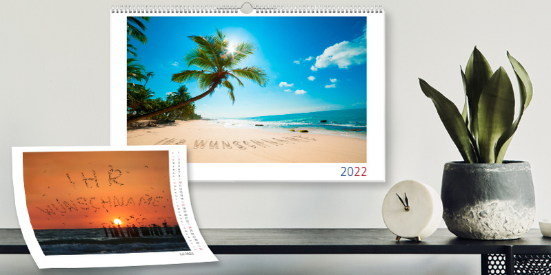 Personalisierte Kalender - A3-Wandkalender 2022