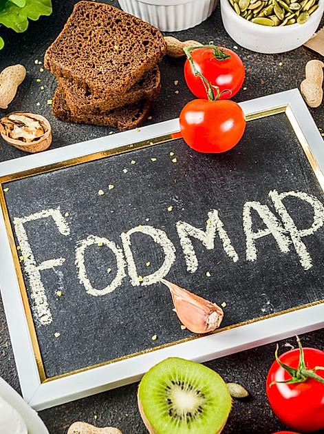 Darstellung von Lebensmitteln die für eine Fodmap-arme Ernährung bei Reizdarm geeignet sind