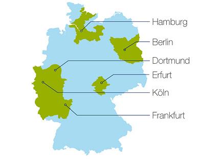 Landkarte Orbisana Sanitätshäuser Deutschland