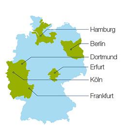 Landkarte Deutschland Orbisana Sanitätshäuser