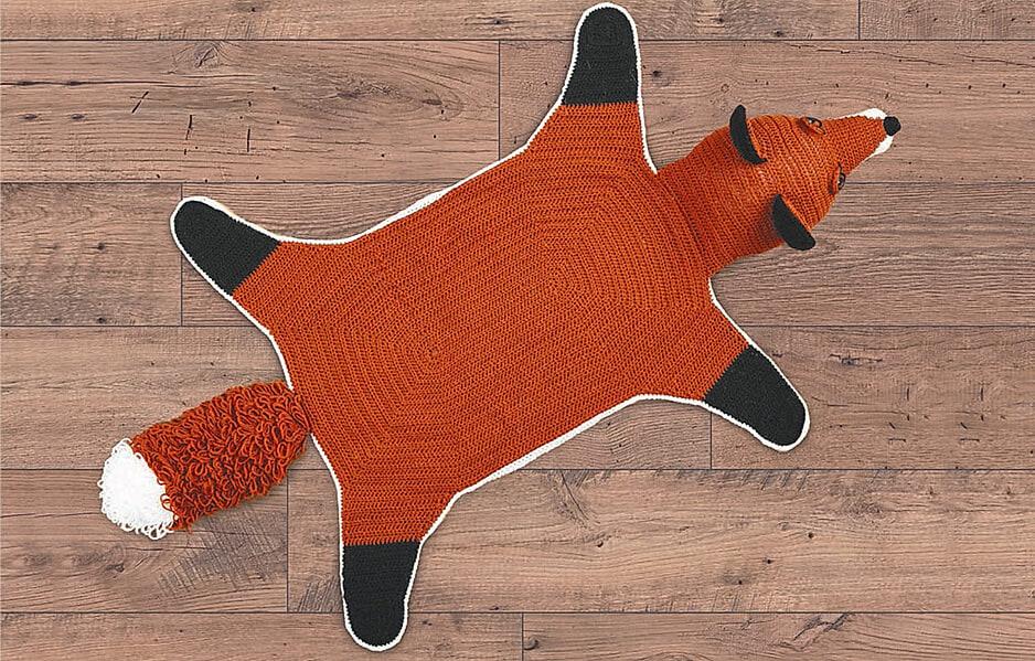 Fuchs als Teppich oder Kuscheldecke selber machen