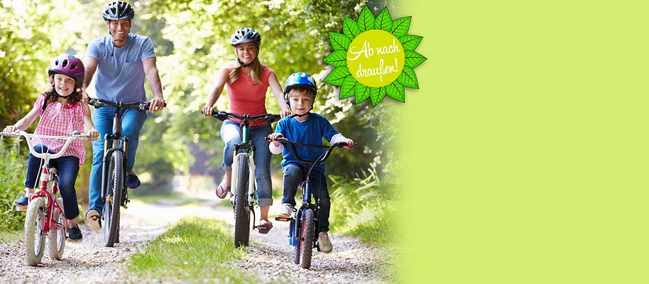 #Ab nach draußen Es ist einfach wunderschön, im Sommer die Zeit draußen zu verbringen. Raus ins Grüne, mit dem Fahrrad die Gegend erkunden, tolle Wanderungen machen und schöne Stunden beim Grillen mit Freunden haben.  **Genießen Sie die Freiluft-Saison 2016!**  Sichern Sie sich tolle Angebote rund um die Themen:   * Grillen - [Grill-Zubehör, Grillrezepte...](#themenwelten-ab-nach-draussen-layout-aktionsflaeche-2-fahrraeder) * Gartenmöbel -  [Möbel-Sets, Sonnenliegen, Schirme...](#themenwelten-ab-nach-draussen-layout-aktionsflaeche-1-wandern) * Fahrrad-Spaß - [Fahrräder, E-Bikes, Kinderräder...](#themenwelten-ab-nach-draussen-layout-artikelliste-4-bild-fahrrad) * Wander-Vergnügen - [Ausrüstung, Accessoires...](#themenwelten-ab-nach-draussen-layout-artikelliste-2-bild-wandern) * Gartenspaß für Kinder - [spielen, toben & mehr](#themenwelten-ab-nach-draussen-layout-artikelliste-6-bild-kinderfahrzeuge)   **Gleich reinklicken - es lohnt sich!**