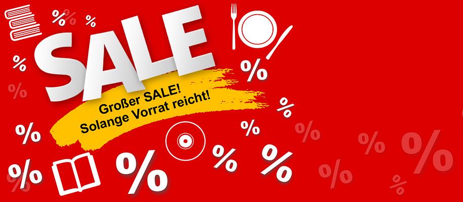 #%%%**SALE**%%%#  ##Wir schaffen Platz für Neues!   ###Viele Artikel stark reduziert!   ####Nur solange der Vorrat reicht! #####Schnell zugreifen lohnt sich!   * **Bücher ab 1.- EUR** * **Buch-Pakete ab 7.99 EUR** * **DVDs ab 2.99 EUR**   **Jetzt schnell Schnäppchen sichern!**