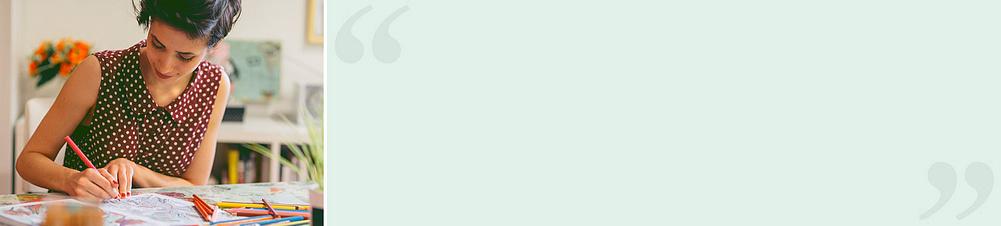"""""""Beim Abtauchen in die ZEN-Koloration verfliegt der Stress""""Julia H. (Weltbild-Kundin) meint:  *""""Einfach wunderschön! Die vielfältigen Motive können durch eigene Fantasie und Farbauswahl stimmungsvoll mit Leben gefüllt werden. Die qualitativ hochwertigen Stifte brechen weder beim Ausmalen noch Spitzen ab. Der schneeweiße Malkarton lässt sich auch mit Flüssig-, z.B. Aquarellfarben gut bearbeiten. Beim Abtauchen in die ZEN-Koloration verfliegt der Stress. Kann ich nur weiterempfehlen!""""*"""