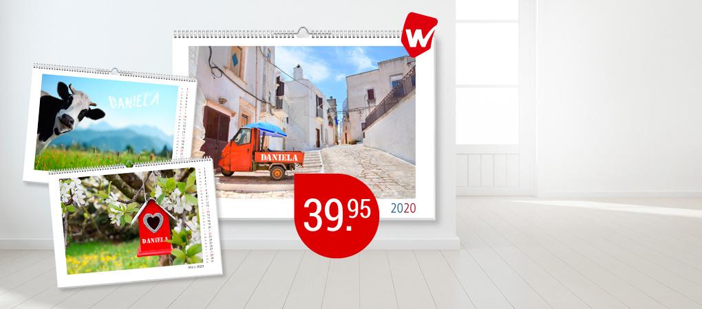 Im grossen A3-Format - Panoramakalender mit Ihrem Namen