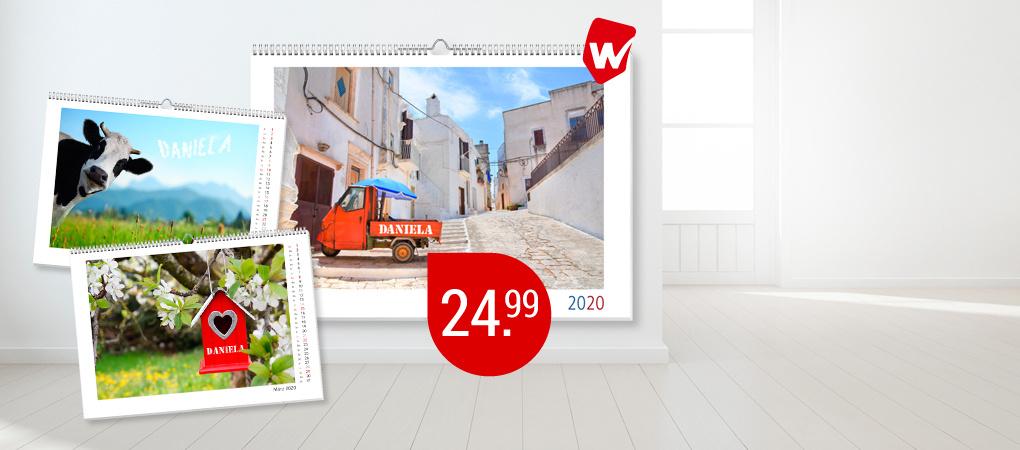 Im großen A3-Format - Panoramakalender mit Ihrem Namen
