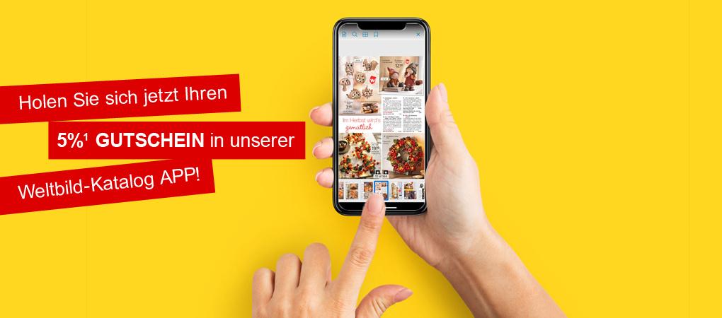 Weltbild-Katalog-App downloaden und 5% Gutschein sichern!