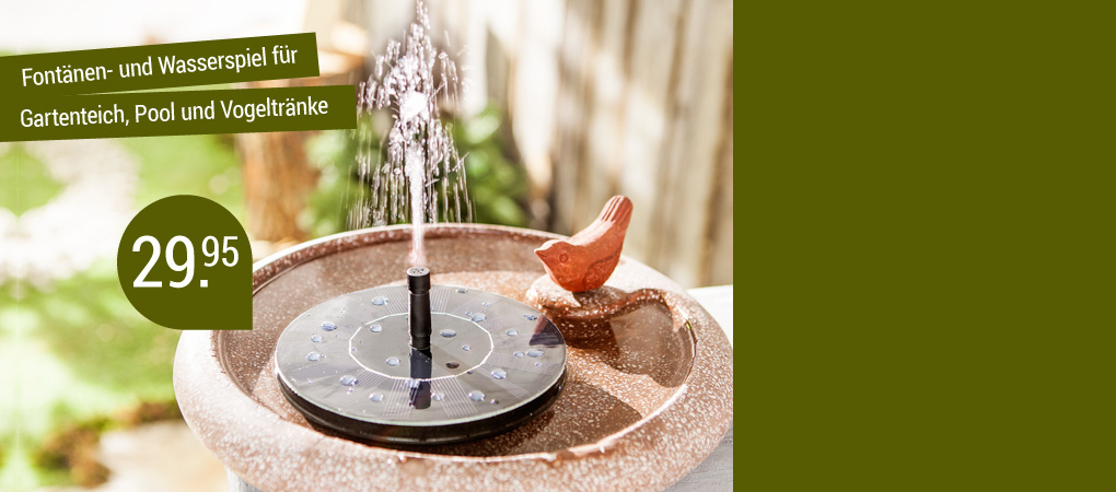 Gönnen Sie sich romantische, kleine Wasserfontänen für Ihre Idylle daheim