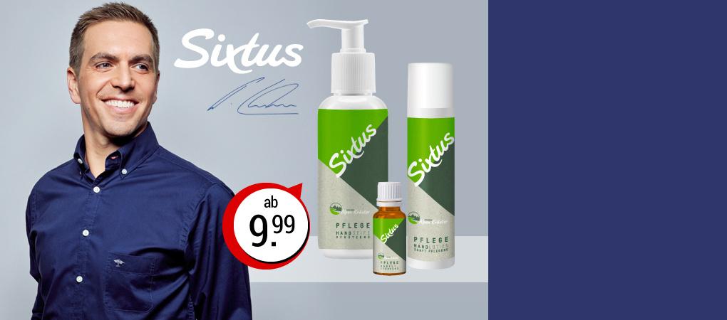 Sixtus - naturnahe Körperpflege by Philipp Lahm