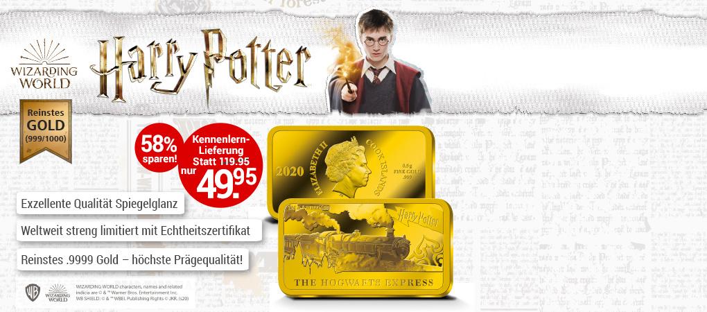 Gold-Barrenmünzen Harry Potter (Weltbild Edition)