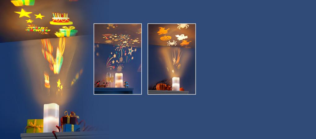 """LED-Projektorkerze '""""Seasons"""", 10-teilig"""