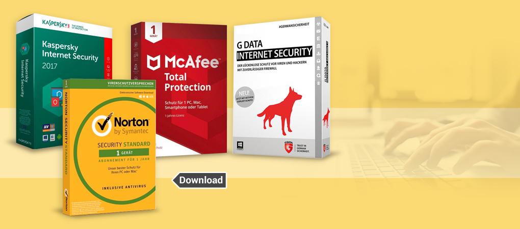 Antivirus und Internet Security jetzt bei Weltbild downloaden