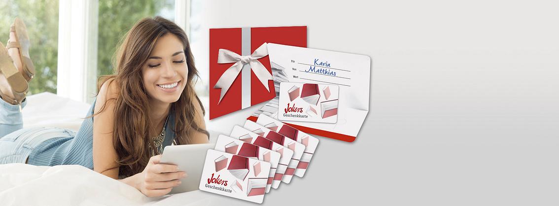 ##Newsletter abonnieren und gewinnen  Gewinnen Sie eine von **20 Jokers Geschenkkarten** im Wert von Fr. 10.-, Fr. 20.- und Fr. 50.-.